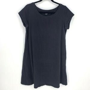 Eileen Fisher Scoop Neck Cap Sleeve Shirt Dress